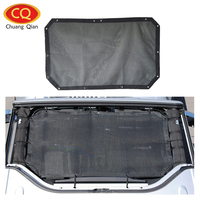 Chuang Qian Car Mesh Sun Shade Top Cover Eclipse Sunshade UV Protection for Jeep Wrangler JK 2007 2017 2 Door