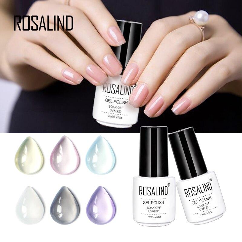 Online Shop Rosalind 7ml nail art Jelly Color Style 1pcs gel nail ...