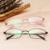 Alta qualidade pure titanium armações de óculos mulher óculos ópticos armação dos óculos de prescrição óculos de negócios completo myopia8100