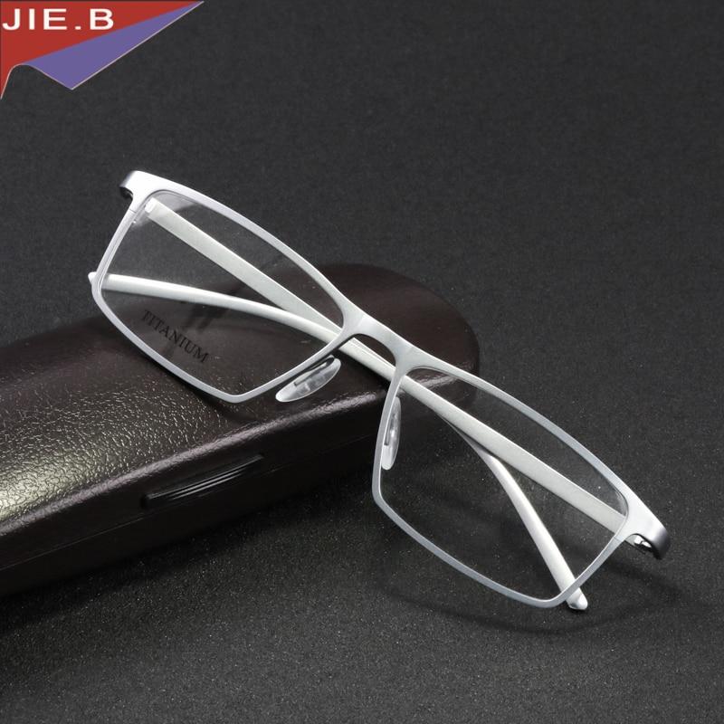 JIE.B ბრენდის სათვალეების ჩარჩო მამაკაცები ქალები რეტრო სუფთა ტიტანის სათვალის ჩარჩოები oculos de grau კომპიუტერული ოპტიკური სათვალეები myopia nerd