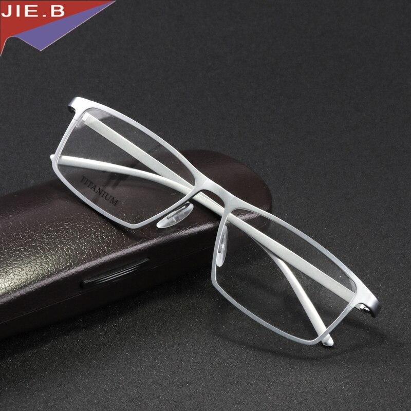 Jie. b occhiali di marca telaio uomini donne retro pure titanium occhiali da vista frames oculos de grau computer vetri ottici miopia nerd