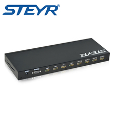 STEYR IR Remote HDMI Matrix 4x4  Switch Splitter 4 Inputs 4 Outputs True Matrix HDMI 1.3b Support 1080p 3D with RS232 Control