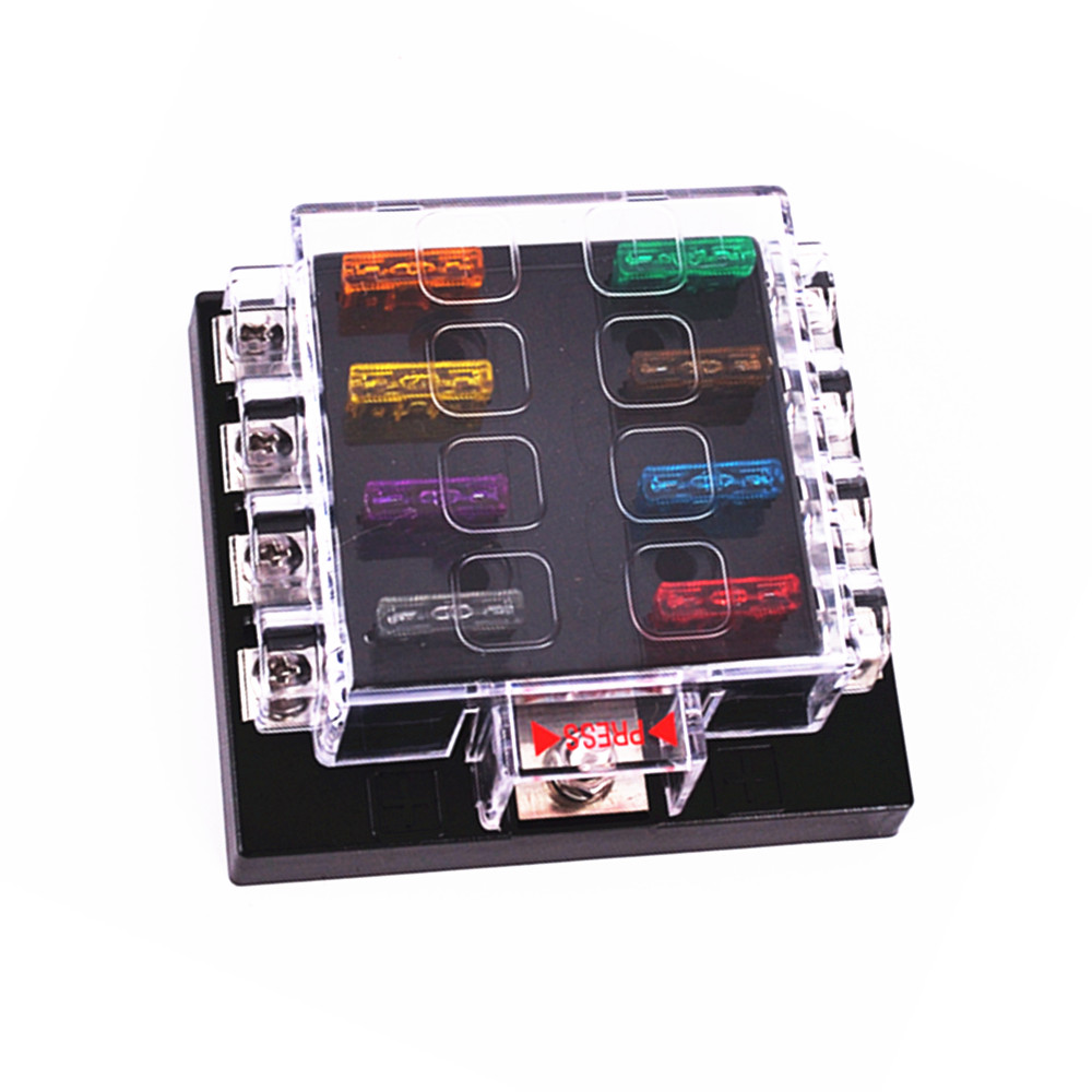 Unviersal High Quality Waterproof 8 Way Circuit Car Fuse Box 32v Dc Blade Holder Modification In Fuses From Automobiles Motorcycles