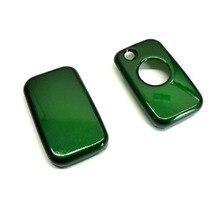 Одной кнопки дистанционного флип чехол ключ защиты глянцевой металлической зеленый цвет для mercedes benz
