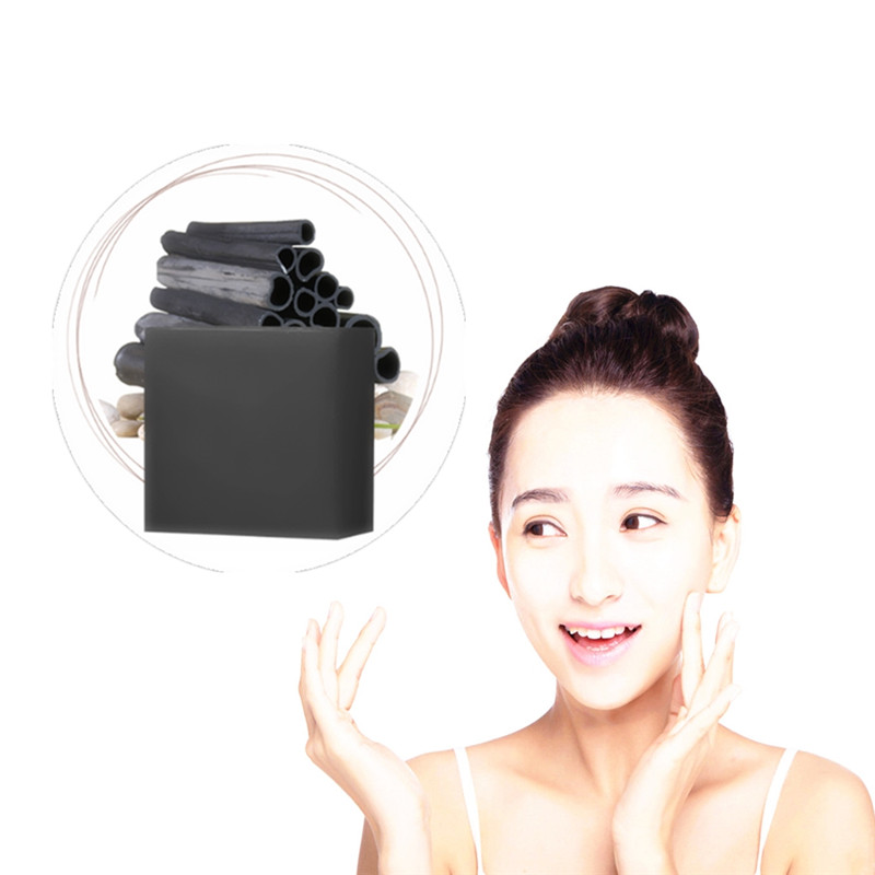 1Pcs Back Neck Face Whitening Soap Remove Black Spot Blackhead Pores Grease Dirt Cleaning Korean Bamboo Charcoal Skin Care Soap