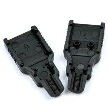 Новый Стиль, Новые 10 шт. Type A Male USB 4 Контактный Разъем Разъем С Черной Пластиковой Крышкой