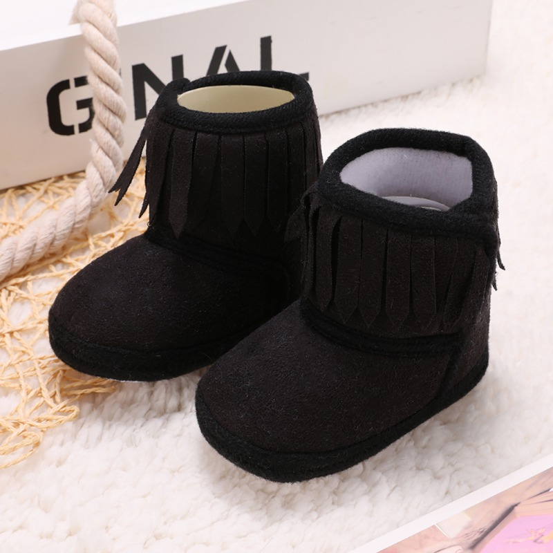fb013d3fa Hot!!! Newborn Soft Soled Baby Warm Shoes Anti slip Boots Booties Baby Boots  Girl Boy Kids Solid Fringe Infant Shoes -in Boots from Mother & Kids