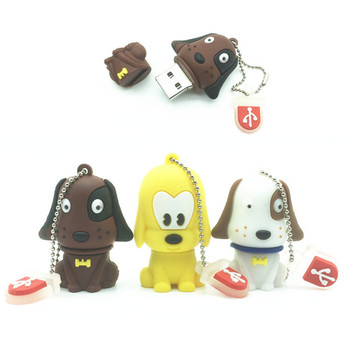Hot sale pen drive cartoon cute Pug mini dog 64gb 4gb 8gb 16gb 32gb usb 2.0 flash drive memory stick pendrive gift Boy