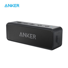 Anker SoundCore 2 Portable Bluetooth Wireless Speaker Better Bass 24-Hour Playtime 66ft Bluetooth Range IPX5 Water Resistance(China)