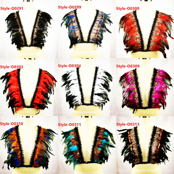 Womens Sexy Angel feather bra Body Harness top Shawl cape feather Goth Gypsy Feather Dress Wedding Wing Festival Rave Feather фото
