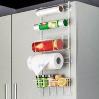 5 слоев кухонной вешалки для хранения железный холодильник боковая полка стойка многослойный шкаф для хранения держателей E2S