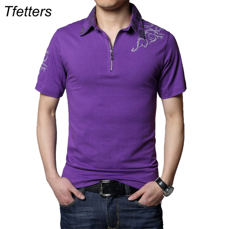 TFETTERS Summer Hot Casual Tshirt Men Silver Dragon Tattoo Collar Short Sleeve Cotton T- ...