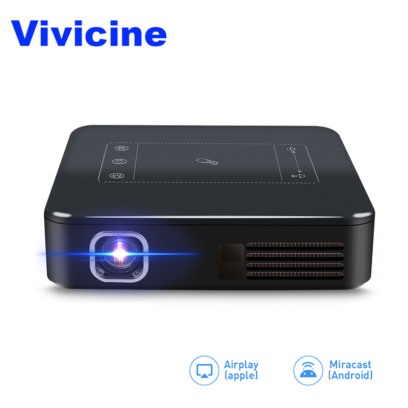 Vivicine Handheld Pocket Projector,Smart Android 7.1 OS, Wifi Bluetooth LED Proyector,Wireless Miracast DLNA Video Game Beamer цена и фото