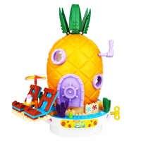 2019 SpongeBob Music Pineapple House Compatible legoigery SpongeBob Friends Building Blocks Education Toys for Children Birthday