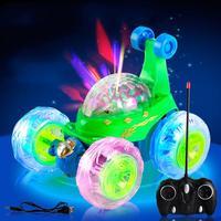 Remotel Controle de Música Flash LED Brinquedos Brinquedos Do Caminhão Do Carro de 360 Graus Flash de Música Caminhão Caminhão Modelos de Carros Para Crianças