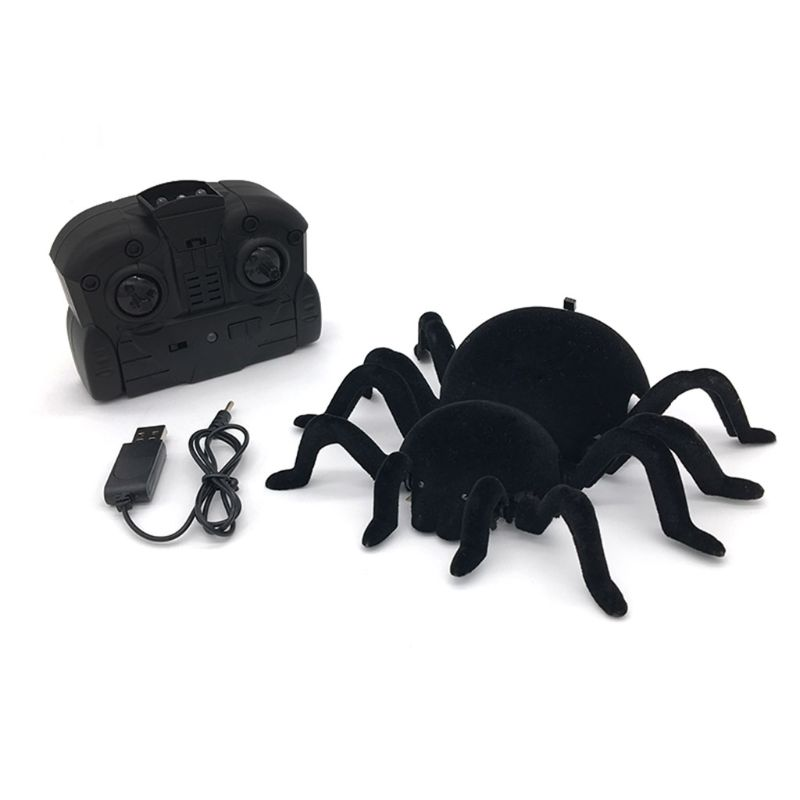 Паук на пульте дистанционного управления, страшный волк, паук, робот, Реалистичная новинка, игрушки, подарки на Хэллоуин