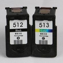Para Canon PG 512 CL 513 XL Cartuchos de Tinta PG512 CL513 para Canon iP2700 iP2702 MP240 MP250 MP252 MP260 MP270 MP280 MP480 MP490