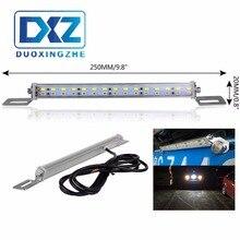 цена на Red + White universal Car LED Backup/Stop Reversing Rear License Plate Lamp  Auxiliary Light