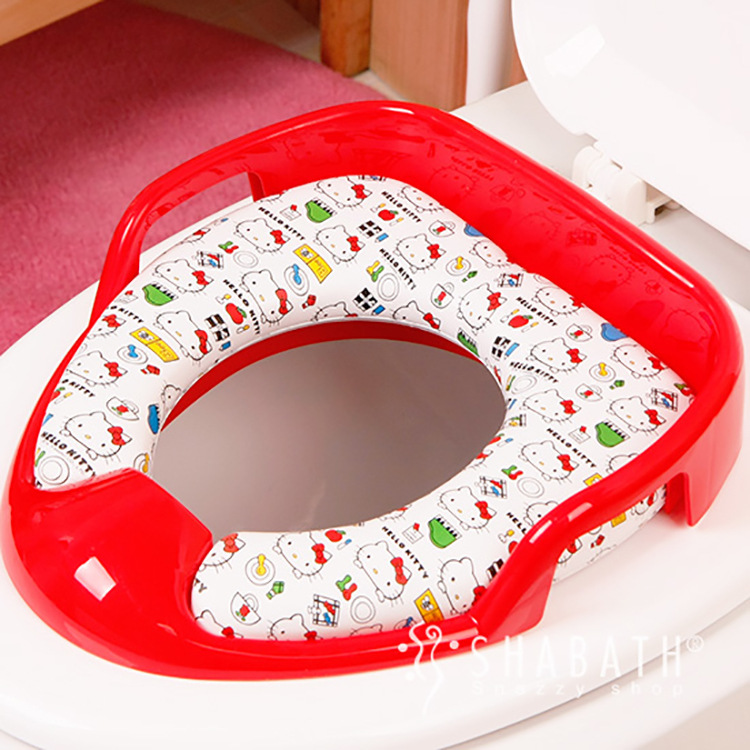 Korean Genuine Hello Kitty Toilet Seat Cover Children's Toilet Pad Lid for Child Baby hello korean vol 2 learn with lee jun ki english version [272p 188 254 20mm] for foreigners learning korean