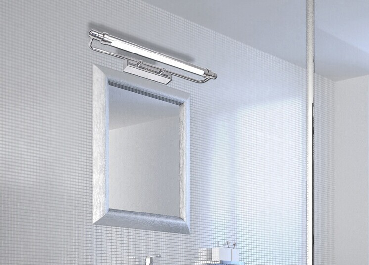 Traditional classic metal silvery electroplating led - Traditional bathroom mirror with lights ...