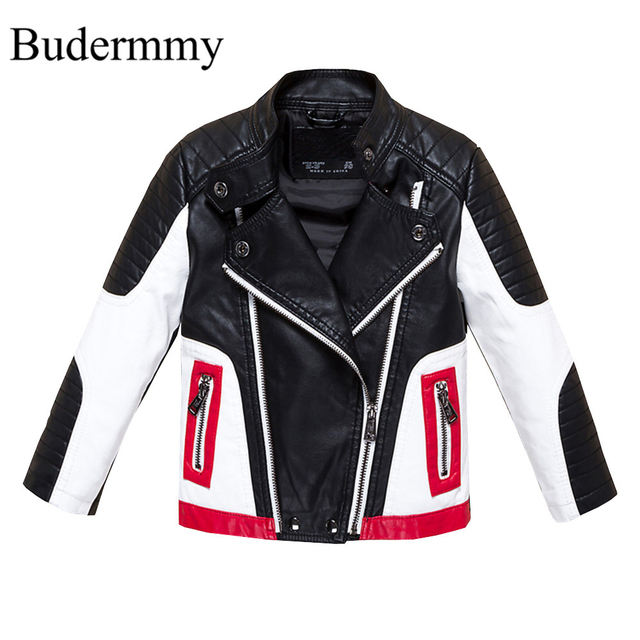 3bb799311 Boys Jackets Faux Leather Jackets for Boys and Girls 2 3 4 6 8 10 12 ...