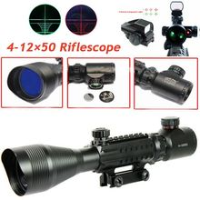 Tactical Red Dot Sight Scope 4-12X50 EG Fiber Holographic Sight Riflescope Military Hunting Shooting Gun Scope For 20mm Rail tactical 4x32 rifle scope fiber optic illuminated scope for 20mm rail hunting shooting military red green dot reticle sight