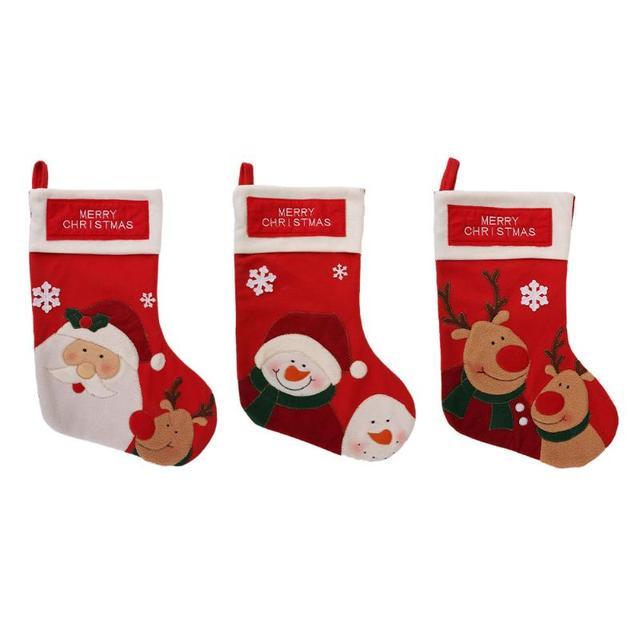 Medias de Navidad grandes calcetines caramelo decoración Santa Claus ...