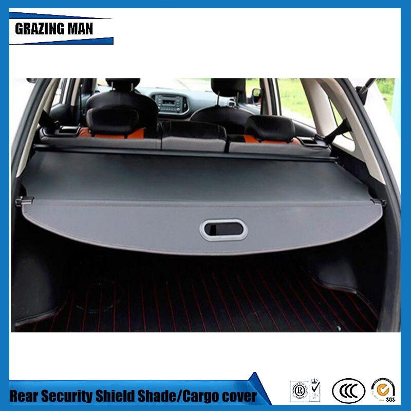 Coffre arrière voiture bouclier de sécurité ombre noir Beige tonneau couverture cargo pour KX3
