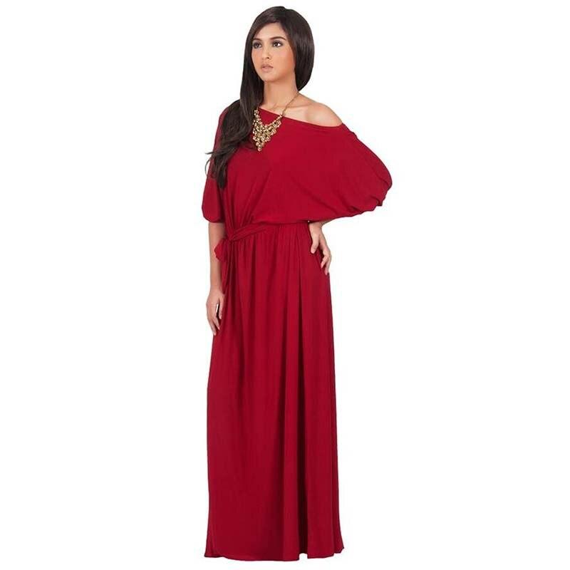 Plus Size L 3xl Sexy Club Dress Women Slash Neck Half