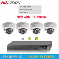 HIK IP CAMERA 4MP 1080P Support Onvif POE DS 2CD2142FWD I WITH English Version Updatable P2P