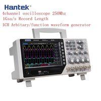 Hantek официальный DSO4254C цифровой осциллограф 4 каналы ЖК дисплея компьютера портативный USB осциллографы + EXT + DVM Авто Диапазон функция