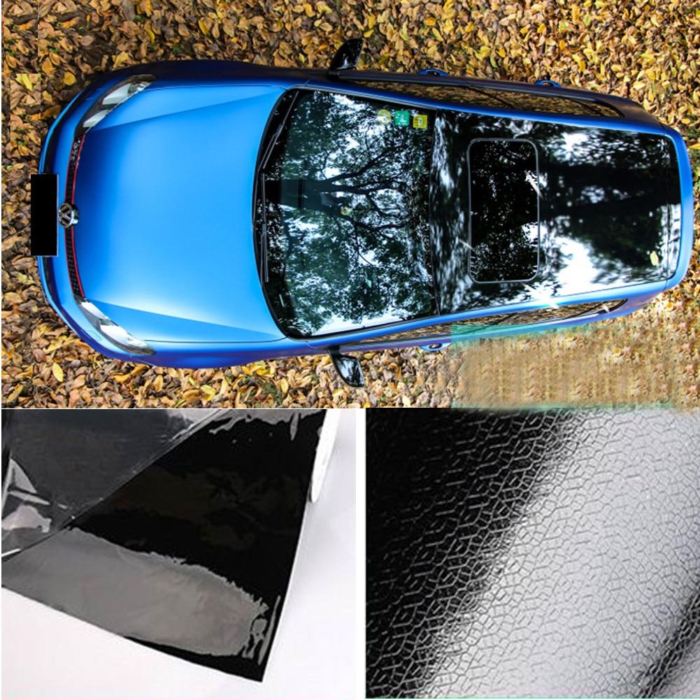 135*50cm High Glossy Black Car Panoramic Sunroof Sticker black roof Car Vinyl Wraps Sunroof Vinyl Film wool felt cowboy hat stetson black 50cm