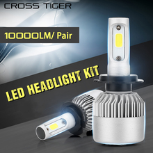 CROSS TIGER S2 New LED Car Headlight with 3 Sides Light 10000LM Cree Lamp H1 H3 H4 H7 H11 H13 H27 9004 9005 9006 HB4 9007 HB5