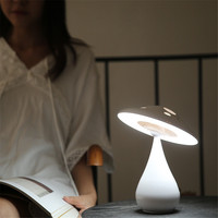 LED Touch Desk Lamp Mushroom Shaped 30 Minutes Auto close Sleeping Night Light Rechargeable Eye protect Reading Table Light