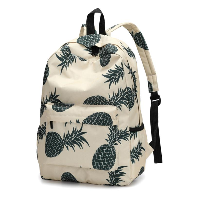 Backpack Female Pineapple Print Schoolbag Backpack School Bags Travel Mochila Escolar Schoolbag #510