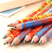 Бесплатная доставка, 20 шт./лот, разноцветный Радужный карандаш для рисования, Детские скетчи для рисования, школьные принадлежности