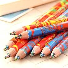 O envio gratuito de 20 pçs/lote cores misturadas arco íris lápis arte desenho lápis desenhos animados crianças graffiti caneta material escolar