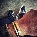 Estilo simple de oro de acero inoxidable 316l pulsera de acero titanium triángulo brazalete brazaletes pulsera negro para los hombres joyería de las mujeres