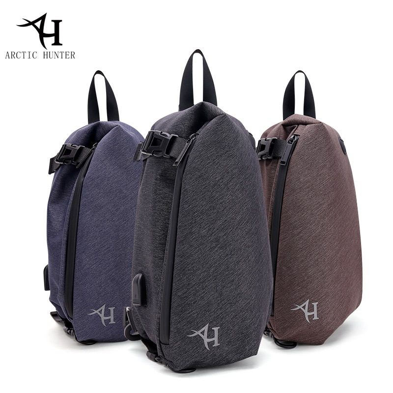 New Chest Bag For Men Single Strap Backpack USB Charger Port Waterproof Nylon Casual Mens Messenger Shoulder Bag Christmas Gift 60w magsafe 2 car charger with usb port for apple macbook
