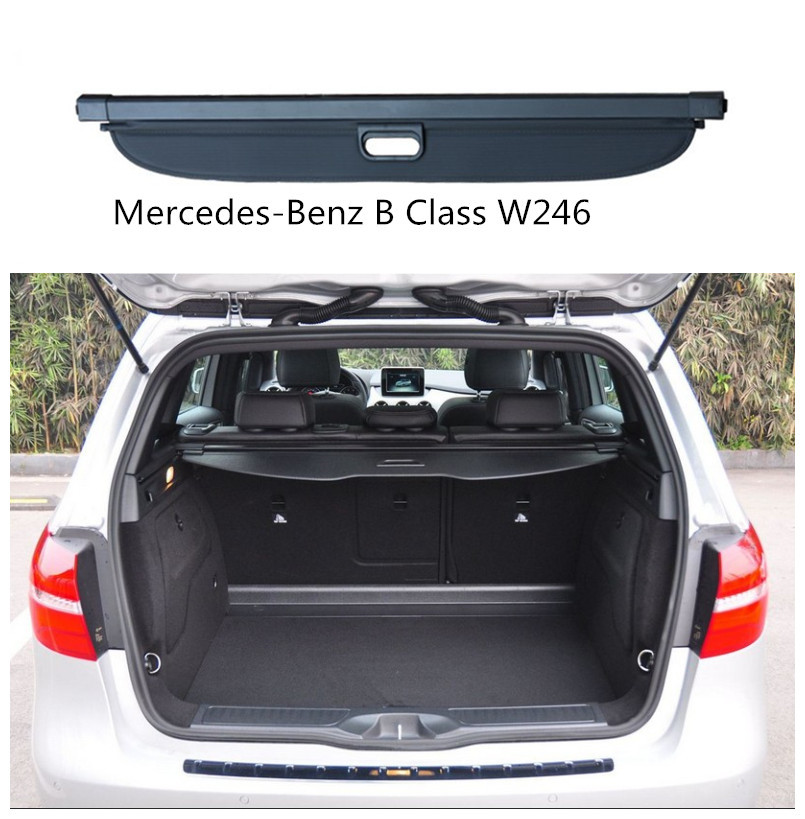 for mercedes benz b class w246 b180 b200 2009 2018 rear trunk security shield cargo cover high. Black Bedroom Furniture Sets. Home Design Ideas