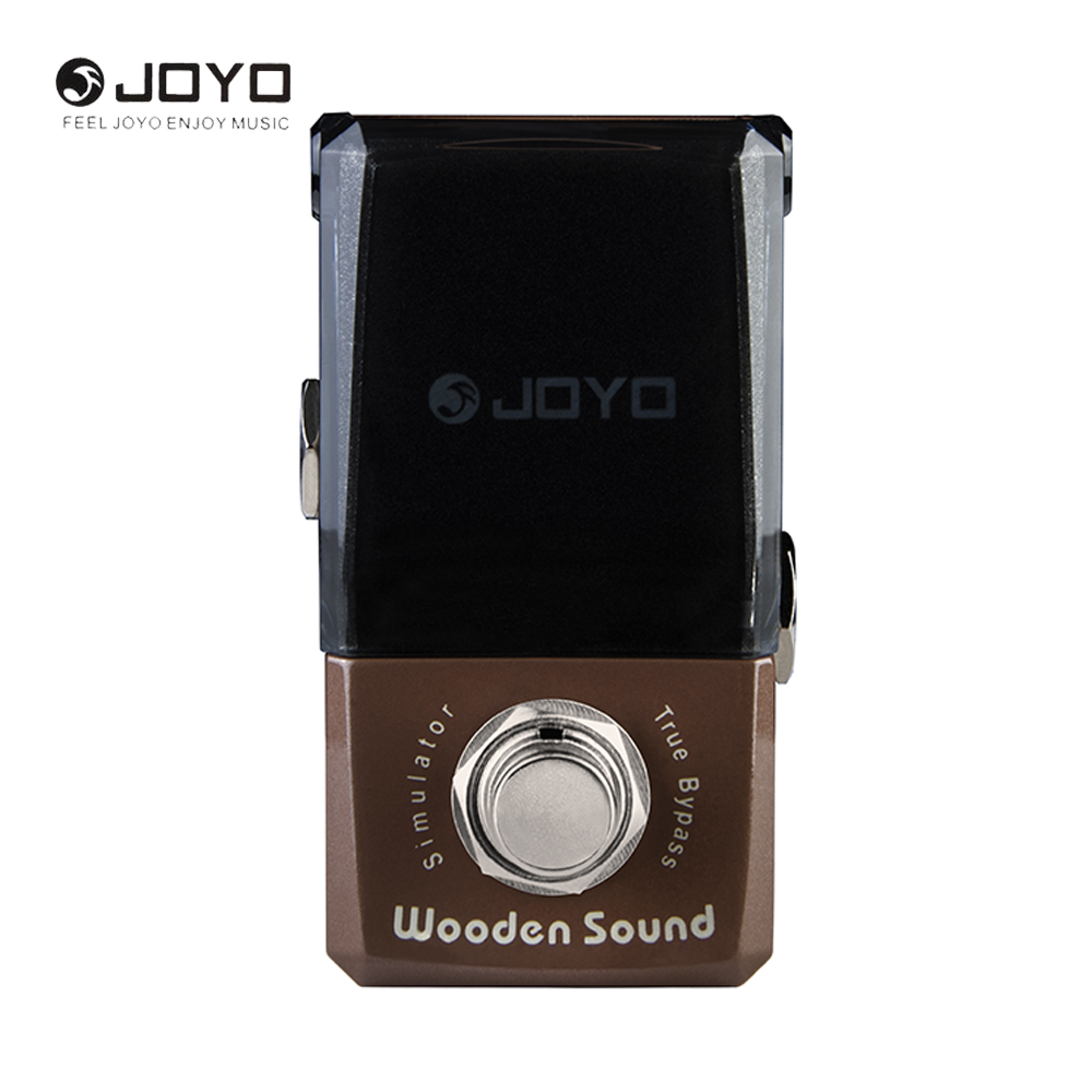 JOYO JF-323 Ironman Series Wooden Sound Mini Electric Guitar Effect Pedal Box Acoustic Guitar Simulator joyo jf 16 bypass design brithish sound guitar effect amplifier simulator pedal purple