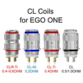 5pcs/lot Original Joyetech EGO ONE Coils CL Ni 0.2ohm CL Ti 0.4ohm Coil Head eGo One Mega CL-Ti CL-Ni Head Organic Cotton Coils