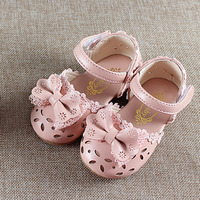 Summer Kids Shoes 2019 Fashion Leathers Sweet Children Sandals For Girls Toddler Baby