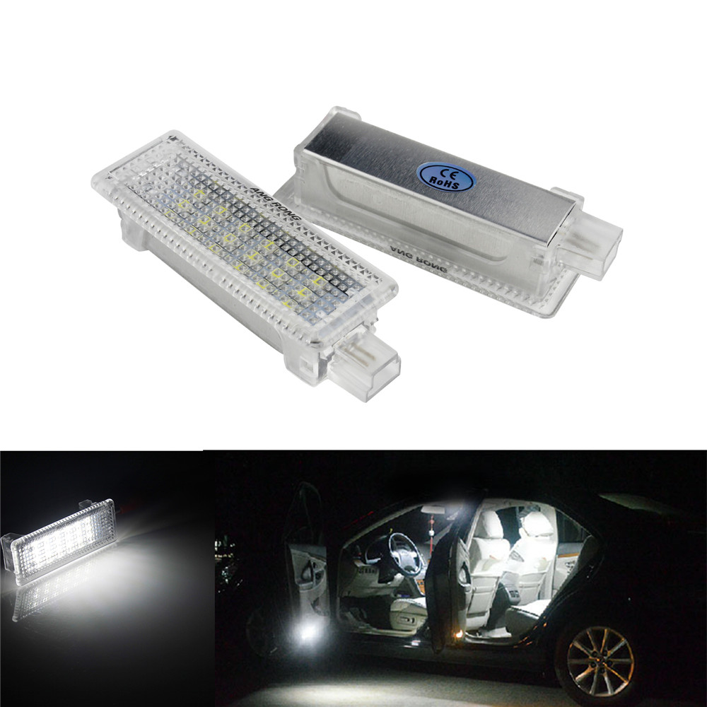 ANGRONG 2x Bright White 18 SMD LED Car Door Light LED Courtesy Lamp For BMW E60 E61 E63 E64 E81 E87 E90 E91 E85 E89 image