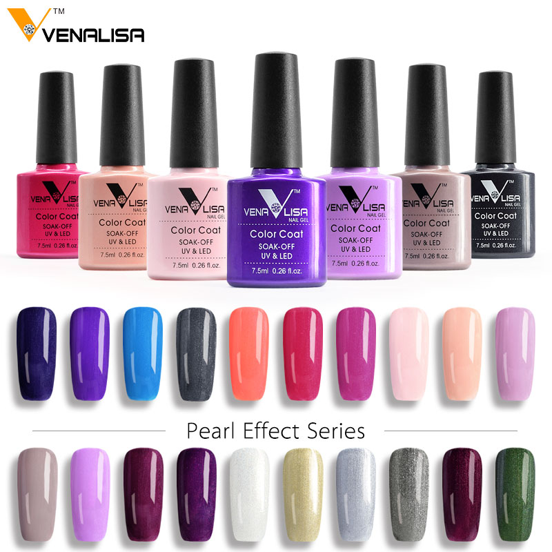 VENALISA Organic Nail Gel Polish 60 Color 7.5ml CANNI Nail Art SPA ...