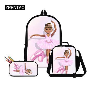 Fashionable Large Capacity School Backpack Sets Dance Ballet Print Teens Girls Schoolbag Satchel Preschool Babies Gifts Dropship