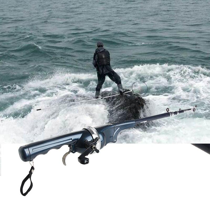 130 cm Portable Pliage Canne À Pêche Mer D'hiver D'hiver Canne À Pêche Canne À Pêche Mini Mini Télescopique Tige S'attaquer