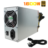 1600W Antminer Power Supply 90 PLUS GOLD Antminer ETH PSU S9 S7 L3 BTC LTC DASH