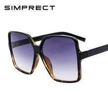 793755e0e7383d SIMPRECT Zwart Oversized Zonnebril Vrouwen Mannen 2019 Retro Grote  Vierkante Zonnebril Merk Designer Vintage Gafas De Sol Mujer