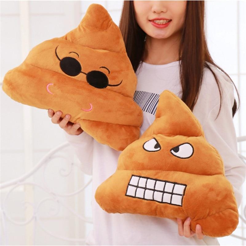Doll Poop Pillow Cushion Emoji Stuffed Home-Decor Smiley Emotion Cute Plush-Toy 18cm/25cm